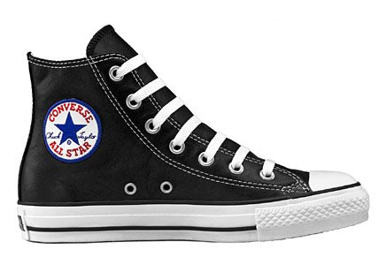 Converse Unisex Chuck Taylor All Star Hi Ltr Black Basketball Shoe 9.5 Men US / 11.5 Women US