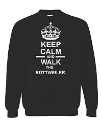 Keep Calm & Walk The Rottweiler Unisex Sweatshirt Jumper