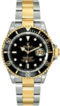 Discount Men's Watches - Rolex Oyster Perpetual Submariner Date Two-Tone Steel Mens Watch 16613BKSO