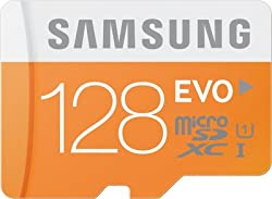 Samsung Evo 128 GB micro SDXC Memory Card (With adapter)