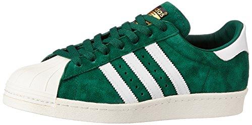 Adidas Originals Superstar 80s DLX Suede b35987Sneaker scarpe shoes men, Verde (Verde), 44 2/3
