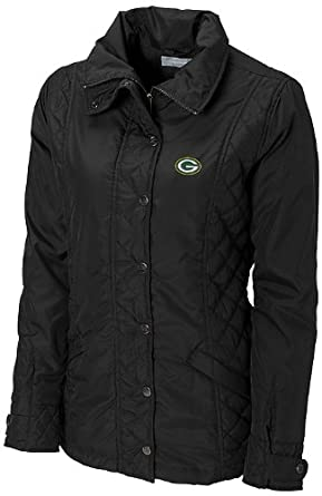 NFL Green Bay Packers Ladies CB WeatherTec Granite Falls Jacket, Black, X-Large by Cutter & Buck
