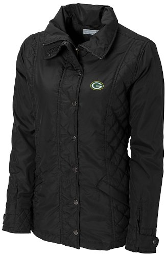 NFL Green Bay Packers Women's CB WeatherTec Granite Falls Jacket, Black, X-Large