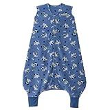 HALO SleepSack Micro-Fleece Early Walker Wearable Blanket, Blue Pup Pals, X-Large