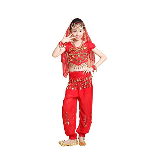 Pilot-trade Kids Party Dress Belly Dance Halloween Costumes Professional Set