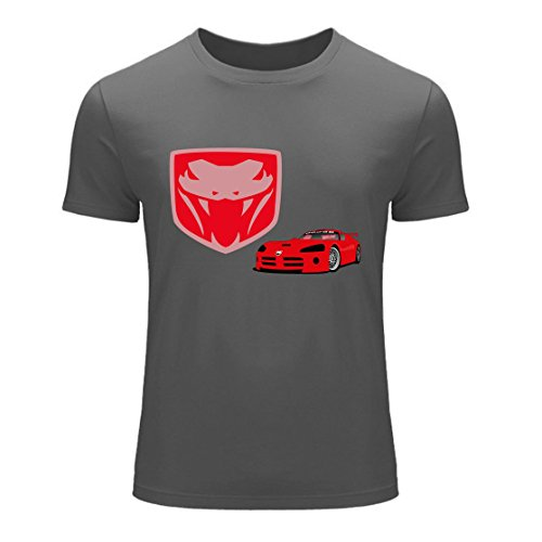 Men's Dodge Viper Logo Gray T-Shirt V3P9MX
