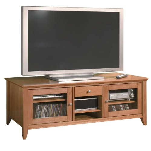buy low price bush furniture 60 inch napa collection wood plasma tv stand in light cherry. Black Bedroom Furniture Sets. Home Design Ideas