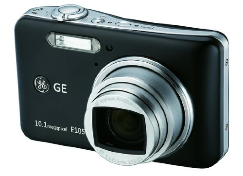 GE E1050TW 10.1 Megapixel Digital Camera w/Panorama (Black)