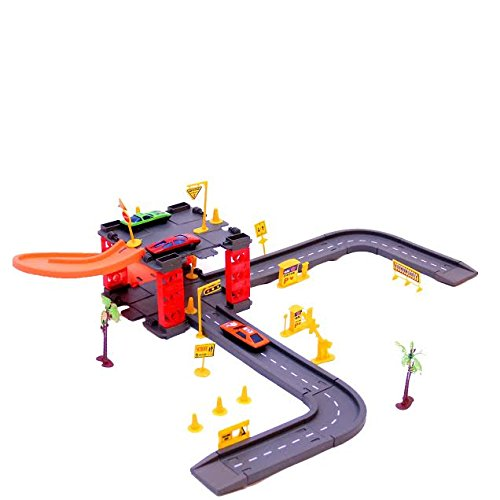 Dazzling Toys Parking Tower Track Set with 3 Cars