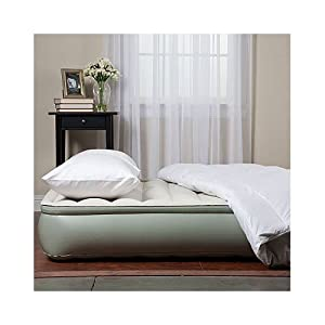 """AeroBed 81023 12"""" Elevated Inflatable Air Bed Mattress with Edge Ring - Queen"""