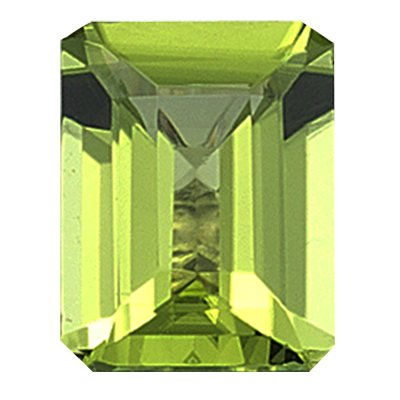 1.00 Ct of 7x5 mm AAA Emerald Peridot ( 1 pc ) Loose Gemstone
