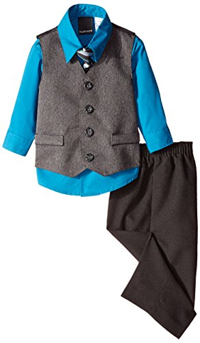 Van Heusen Baby Boys' Herringbone Vest Set, Deep Water, 24 Months