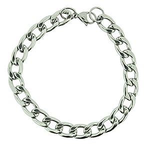 Bracelet gourmette en acier inox - bijoux hommes par Opouriao