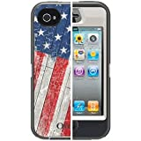 OtterBox 77-20646 Defender Series Anthem Collection Case for iPhone 4/4S – 1 Pack – Retail Packaging – Rustic Flag