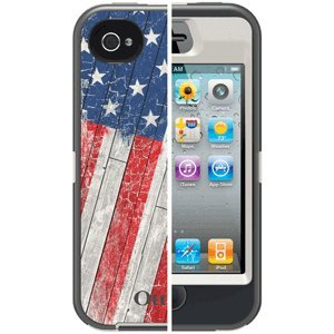 OtterBox 77-20646 Defender Series Anthem Collection Case for iPhone 4/4S - 1 Pack - Retail Packaging - Rustic Flag