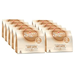 Buy Senseo Café Latte, Recipe, Pack of 10, 10 x 8 Coffee Pods from Douwe Egberts