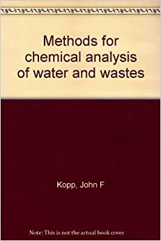 methods for chemical analysis of water and wastes pdf