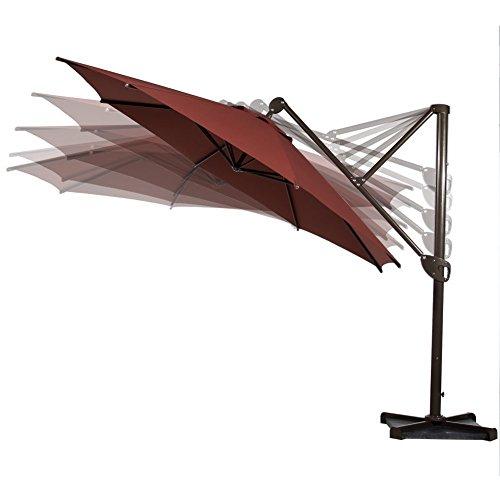 Abba Patio Offset Patio Umbrella 11 Feet Hanging
