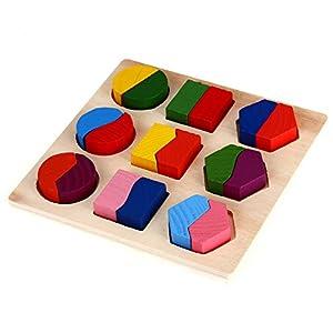FACILA®Rompecabezas Puzzle Madera Juguete Educativo para Bebés Niños Infantil de fitTek en BebeHogar.com