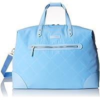 Vera Bradley Preppy Polyester Corner Travel Duffel Bag (Sky Blue)