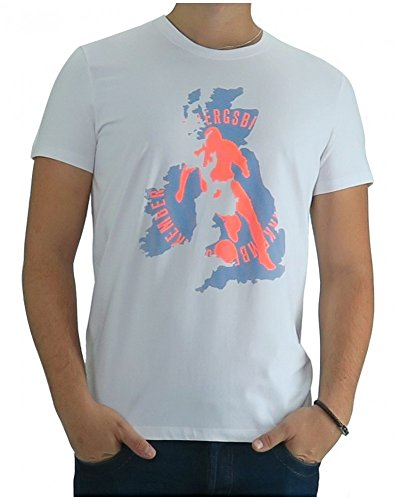 Bikkembergs - Tshirt Dirk Bikkembergs English Football - 2XL, bianco