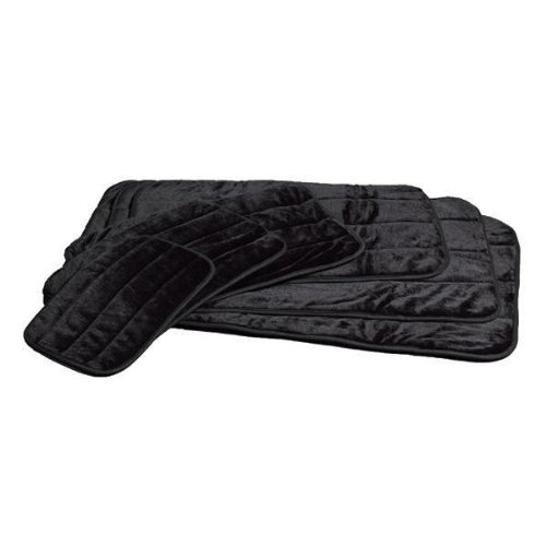 Midwest Quiet Time Deluxe Black Fur Pet Mat 35