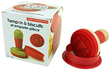 3 yoko design 1185 1185 tampon biscuits emporte pi ce bois silicone rouge 9 5 9 5 cm. Black Bedroom Furniture Sets. Home Design Ideas