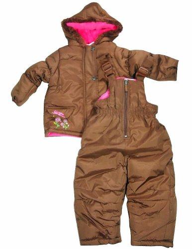 Pink Platinum - Little Girls 2 Piece Snowsuit, Brown 32980-2T front-695182