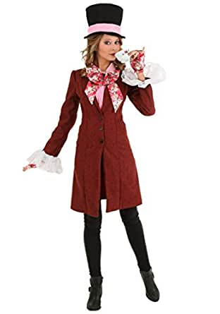 Fun Costumes womens Deluxe Women's Mad Hatter Costume
