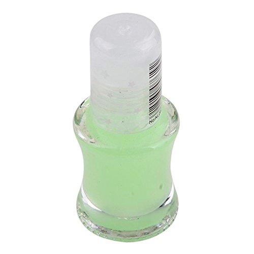 KeyZone 5.5ML Lady Makeup Glow In Dark Luminous Neon Gel Nail Art Polish Varnish Green