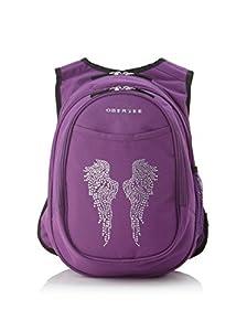 Obersee Kids Pre-School All-In-One Backpack with Cooler Bling Rhinestone Angel Wings