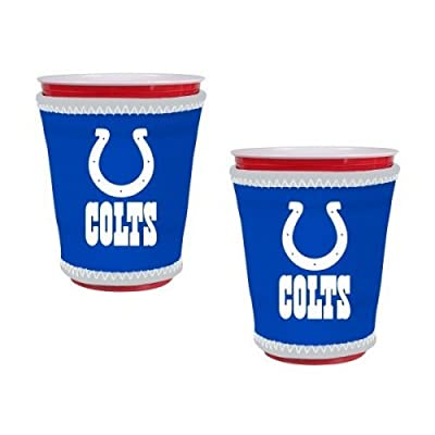 NFL Colts - Neoprene Cup Sleeves (2) | Indianapolis Colts Cup Insulators - Set of 2