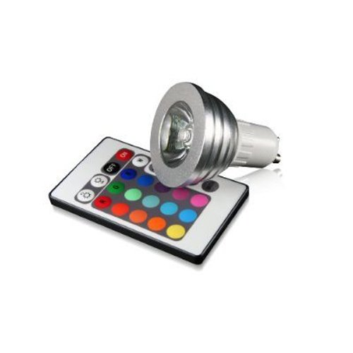 Sodial(R) Dimmable Gu10 Rgb Led Spotlight Bulb Color Changing With Remote Control