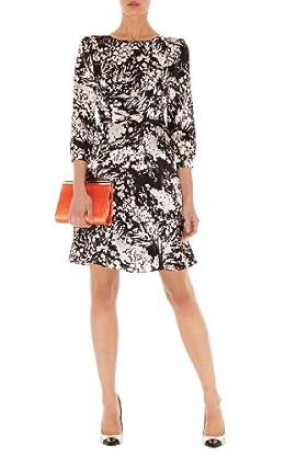Fluid Floral Print Dress