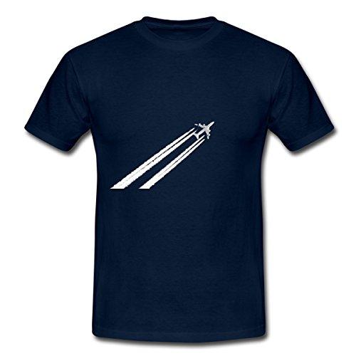 flugzeug-plane-manner-t-shirt-von-spreadshirtr-m-navy