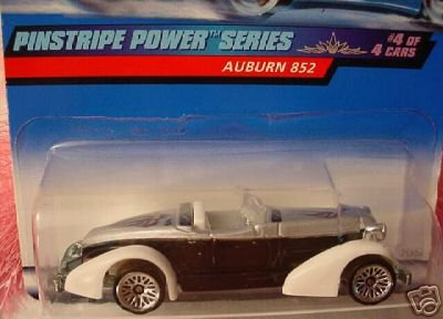 Mattel Hot Wheels 1999 1:64 Scale Pinstripe Power Series Black & White Auburn 852 Die Cast Car 4/4 - 1