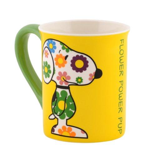 Department 56 Peanuts Mug, 4.5-Inch, Flower Power