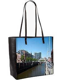 Brown Color Water Obo, Shoulder Bag Tote Faux Leather Handbag Satchel Tote