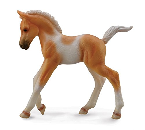Collect A Horses Pinto Foal Walking Palomino Toy Figure