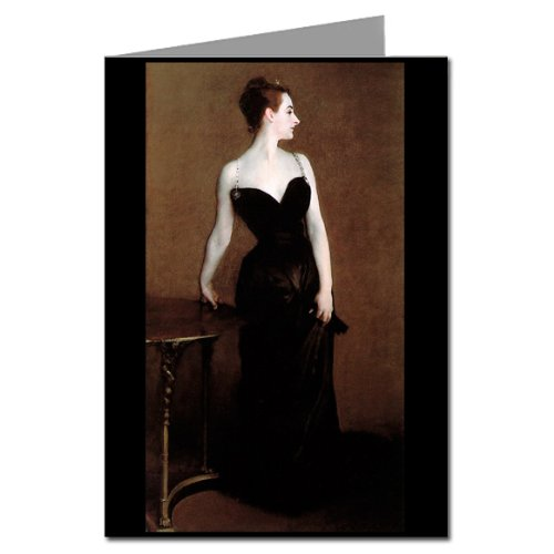 Single Greeting Card of Madame X in John Singer Sargents Painting the First Woman to Wear an Lbd ( Little Black Dress ) (Note Cards John Singer Sargent compare prices)