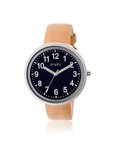 Simplify Multi Women's SIM2607 The 2600 Khaki/Black Leather Watch