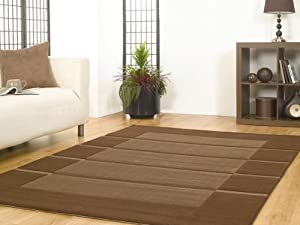Flair Rugs Visiona Soft 4311 Rug, Brown, 120 x 170 Cm from Flair Rugs