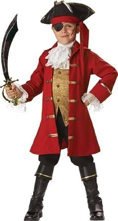 InCharacter Costumes, LLC Boys 2-7 Pirate Captain Vest Set