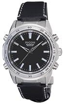 [リコー]RICOH 腕時計 シュルード・リマインダー 電磁誘導充電式 アナログ表示 バイブレーションアラーム ストップウォッチ機能 LEDライト付き ブラック 660001-26 メンズ