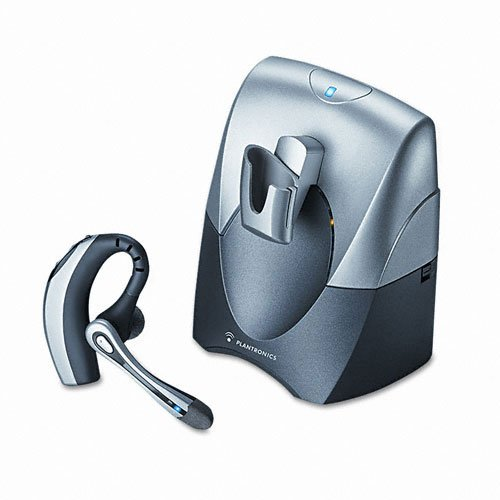 Plantronics Products - Plantronics - Voyager 510S Over-Ear Bluetooth Headset System - Sold As 1 Each - Includes Voyagertm 510 Headset And Deskphone Adapter. - Multipoint Technology For Switching Between Devices. - 33-Ft. Range. - 6 Hours Of Talk Time. - front-201339