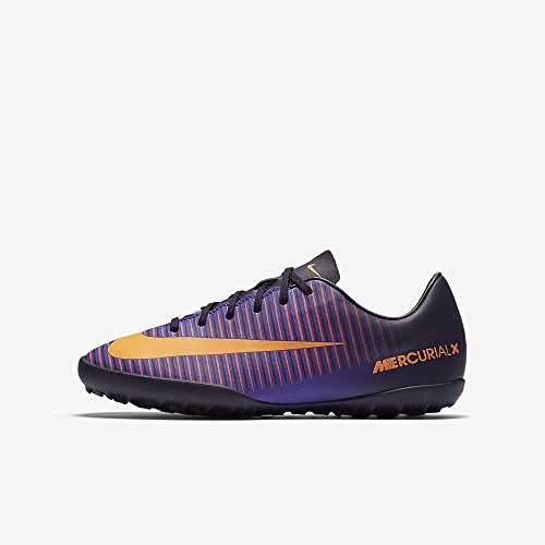 Nike Youth Mercurialx Vapor XI Turf Shoes Turf Shoes [PURPLE DYNASTY] (6Y) (Nike Vapor Ronaldo compare prices)