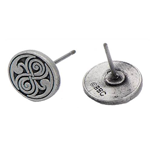 Body Vibe DWHOSORER01 Doctor Who Seal of Rassilon Casted Stud Earrings - 1