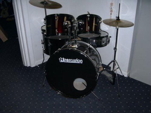 Tj Percussion New Beginner Trap Drum Set | full drum set discounts