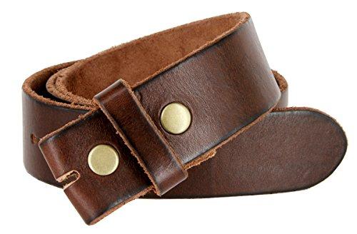 """BS040 Vintage Full Grain Leather Belt Strap 1.5"""" Brown 34"""