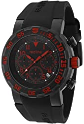 red line Men's RL-50027VD-BB-01RD RPM Chronograph Black Dial Black Silicone Watch